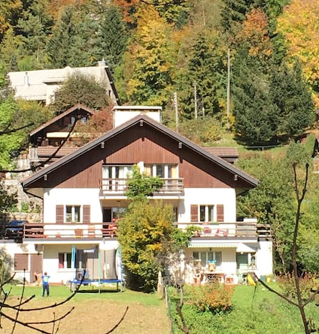 Enjoy Switzerland's natural beauty from a chalet