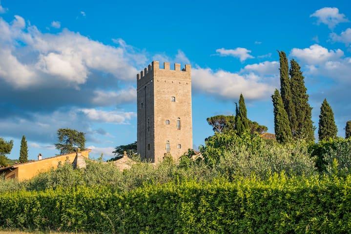 Villa Peruzzi's tower-Florentine dream