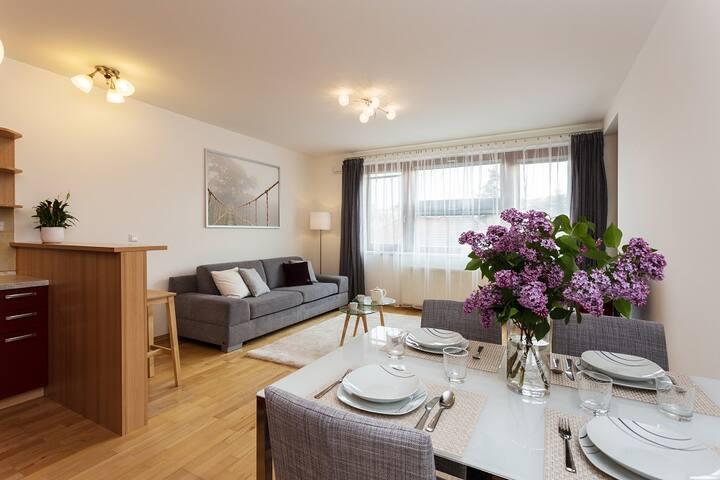 Modern Prague apartment, 12 min to city center