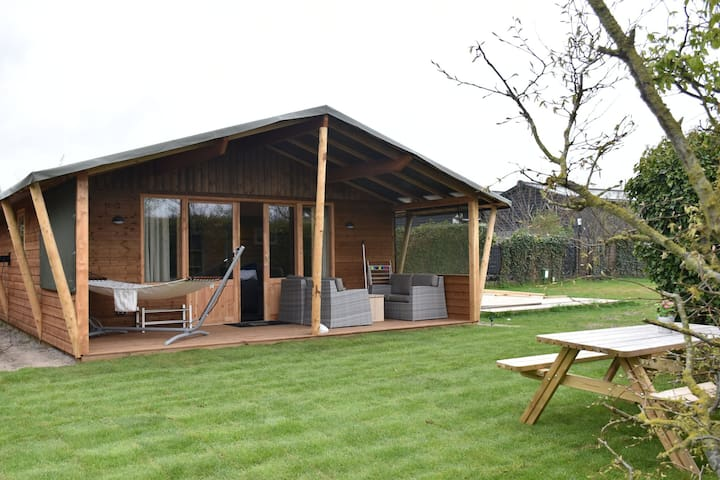 Luxurious, heated lodges near the dunes of Terschelling