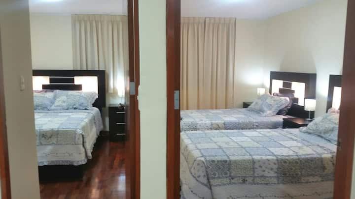 Flat 3 beds 1st. floor with indoor garden
