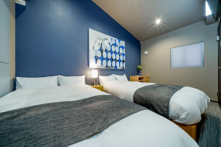 You can lay the bed and watch a TV. Talk with your partner, friend, or family and have a dinner here.