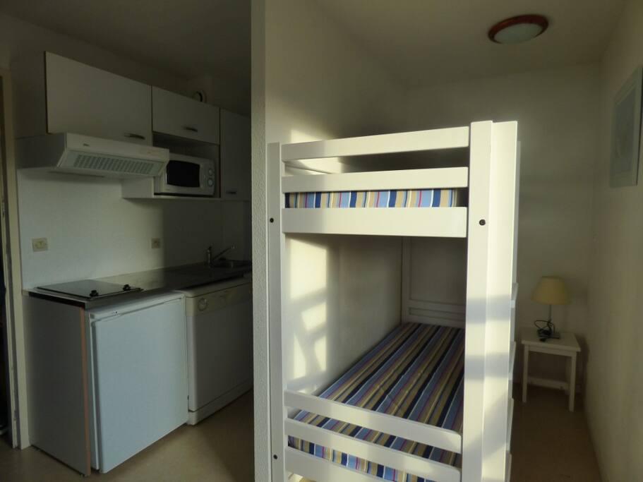 Studio cabine dans residence de vacances condomini in for Cabine al lago della piscina di joe