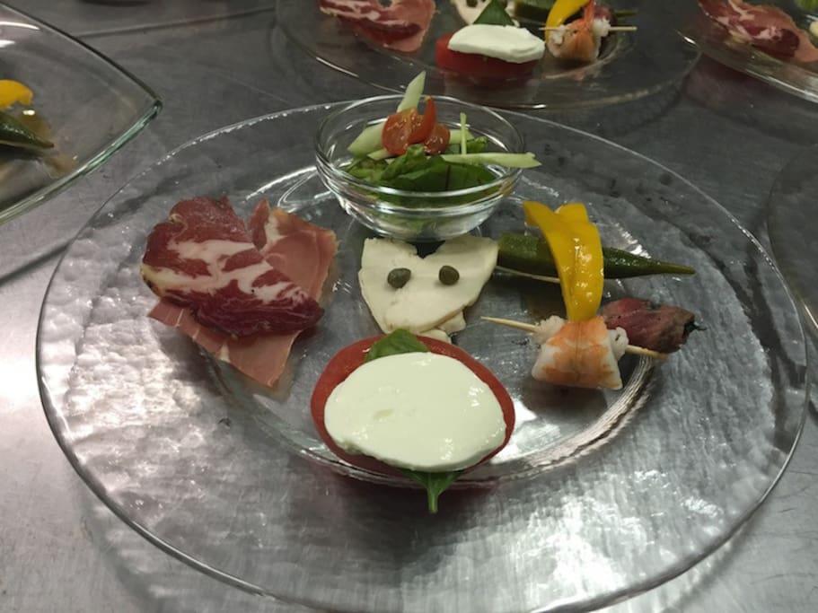 전채 요리 - 디너 코스 Appetizer of dinner course