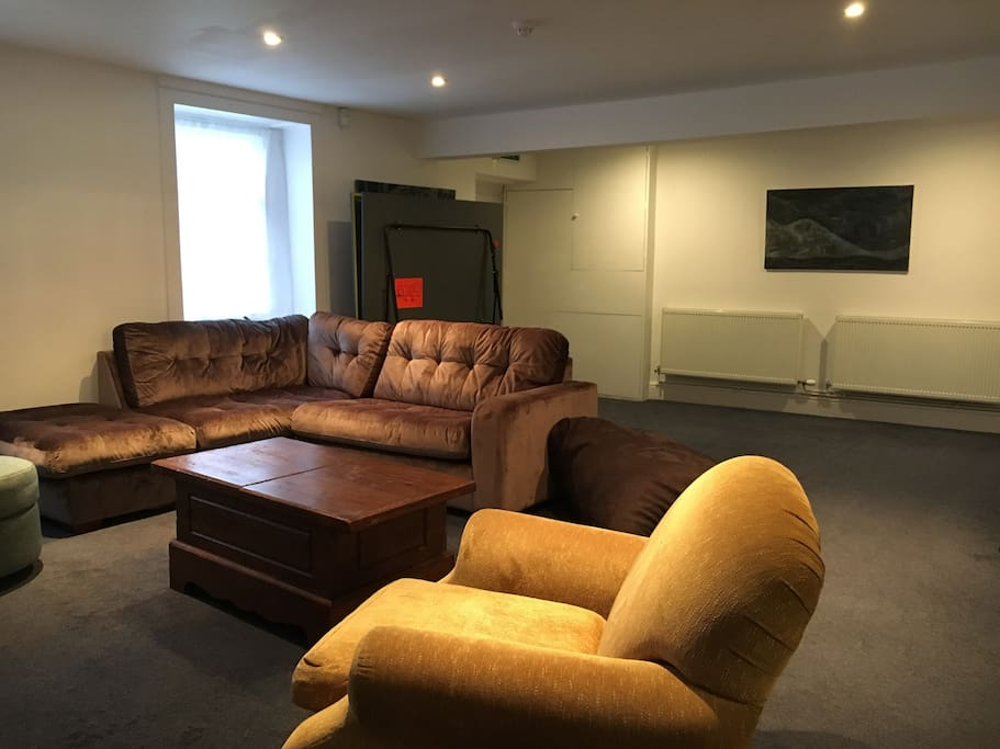 Lounge with table tennis table and excellent dvd collection