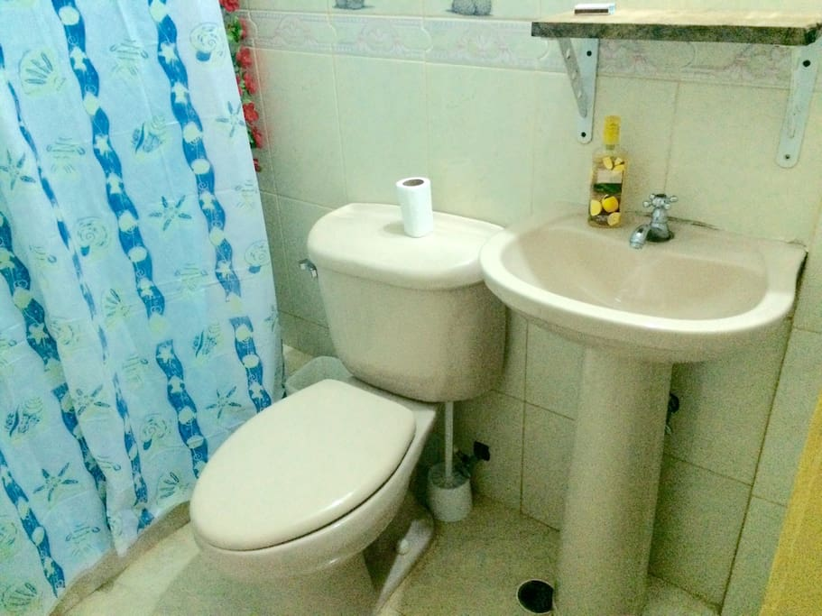 Private bathroom for the guests inside their room.