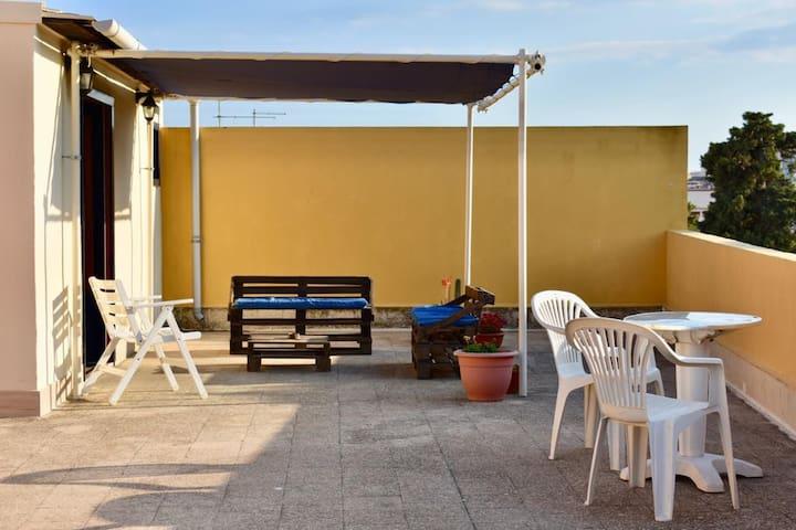 Mansarda con terrazzo