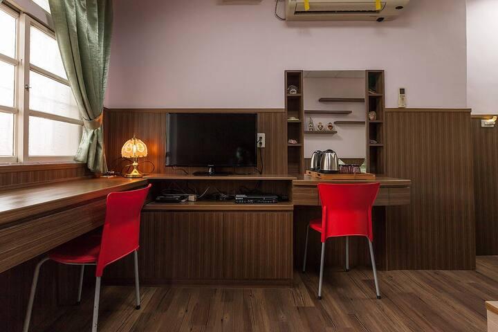 原宿行館招待所-向洋2人房      讓旅行是一件溫馨充滿人情味旅宿! - Xiulin Township - Talo