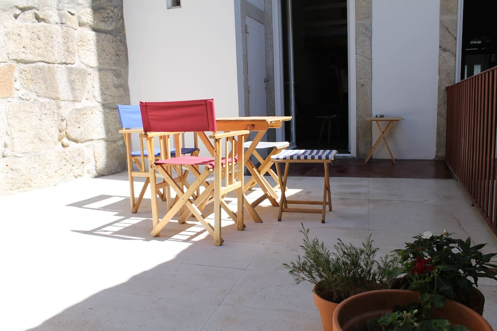 Private Backyard to enjoy and relax in the morning or when you arrive from city walking