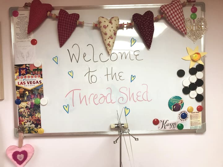 Welcome Sign at The ThreadShed