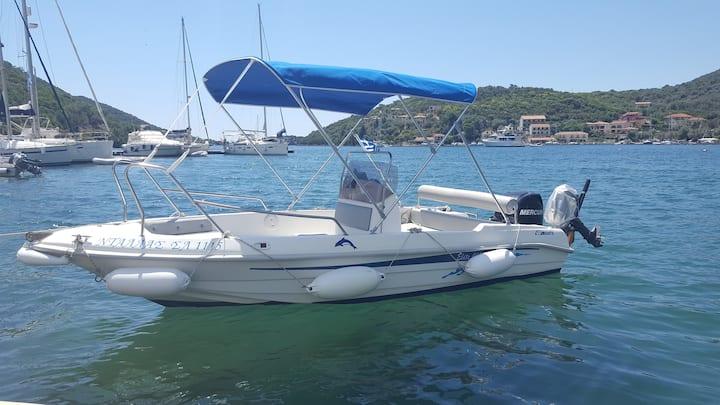 Motorboat for rent Sivota Lefkada