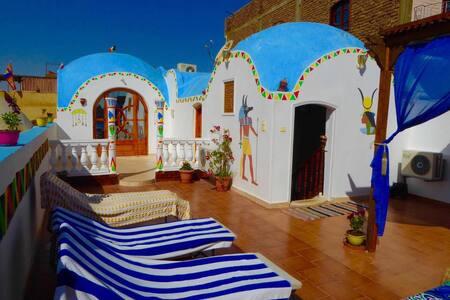 Villa Sunrise rooftop dome studio with Nile view