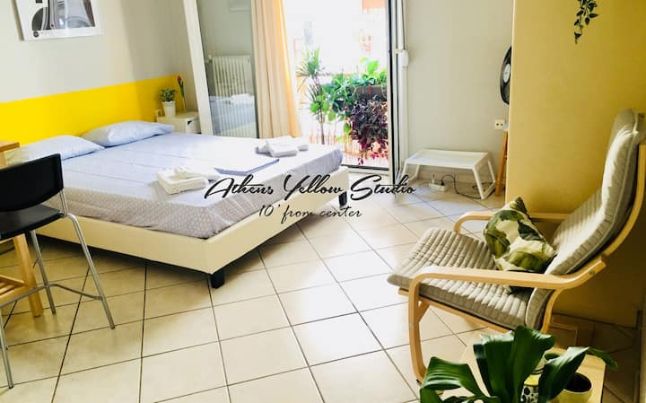 Athens Yellow Studio /500m from Main Train Station