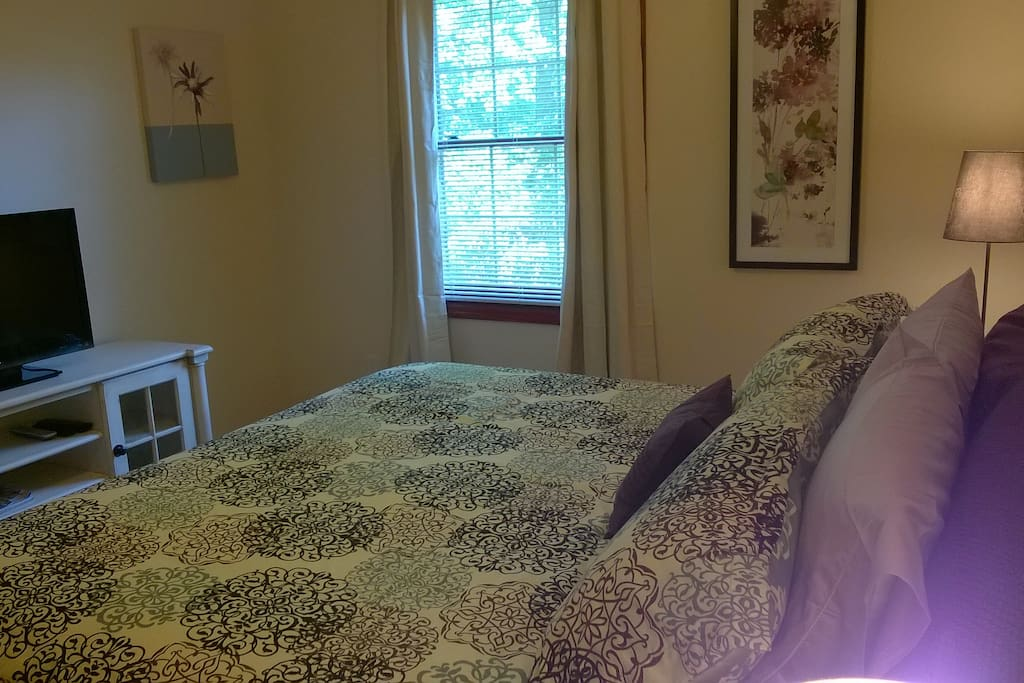 Private guest room with king bed