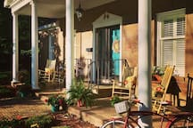 There's nothing like a Southern front porch! Welcome to Cottage Manor!