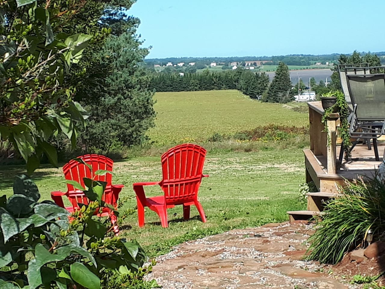 Relax on the deck with this stunning view of the West River.