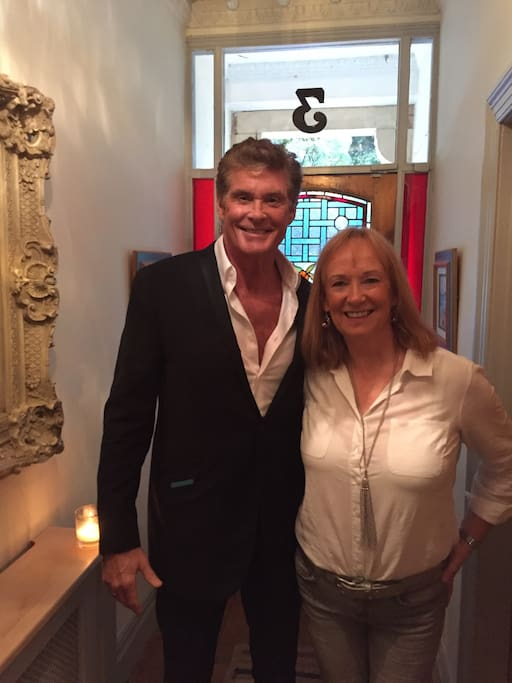 A visit from 'The Hoff!'