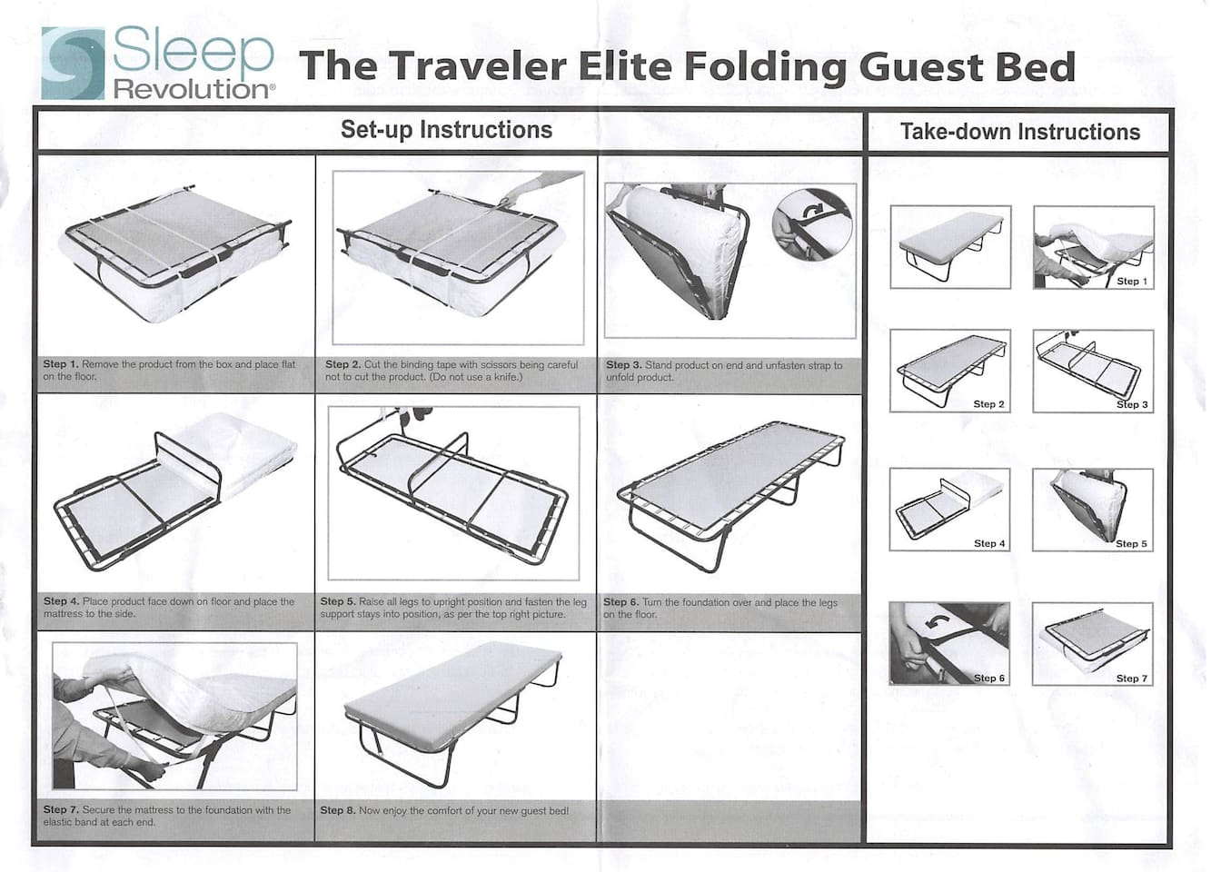 Folding bed can be reserved for special occasions.