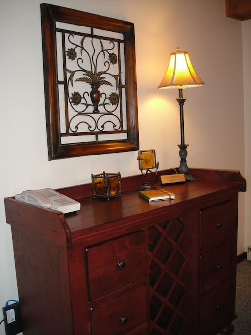 Wine rack by dining room table