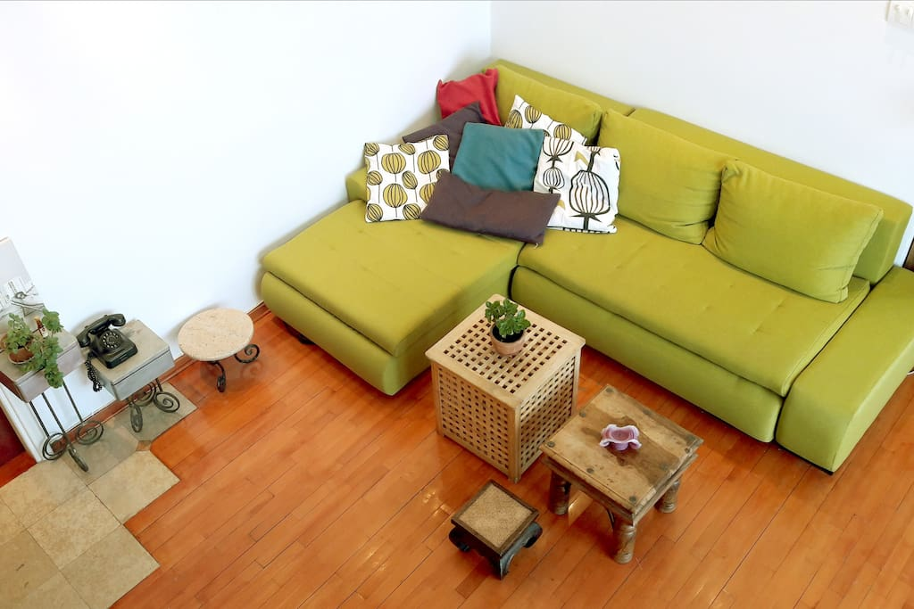 LIVING ROOM seen from the second floor