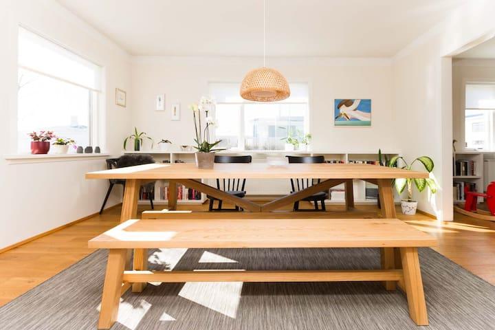Bright, elegant for families - Seltjarnarnes - Appartamento