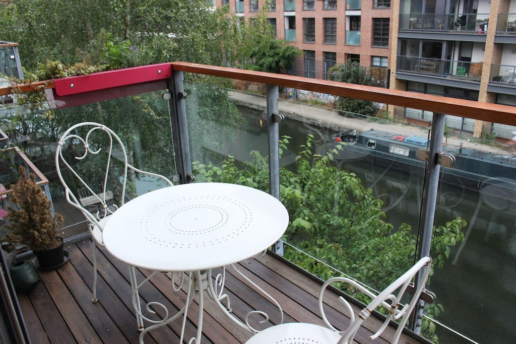 Great canal-side balcony!