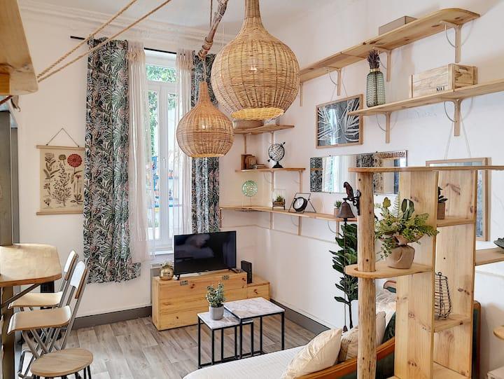 Studio de charme avec jardin en plein centre-ville