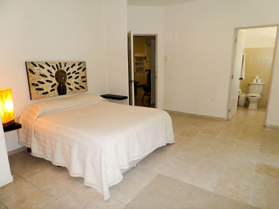 Master bedroom with private en-suite bath.