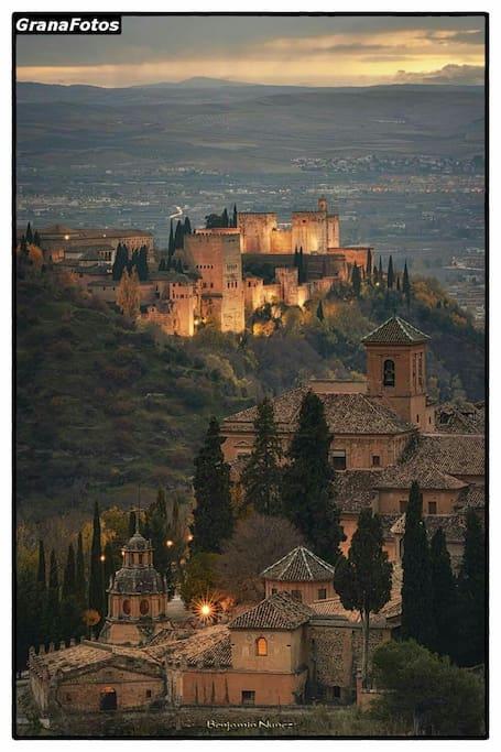 Vista de la Alhambra desde parador