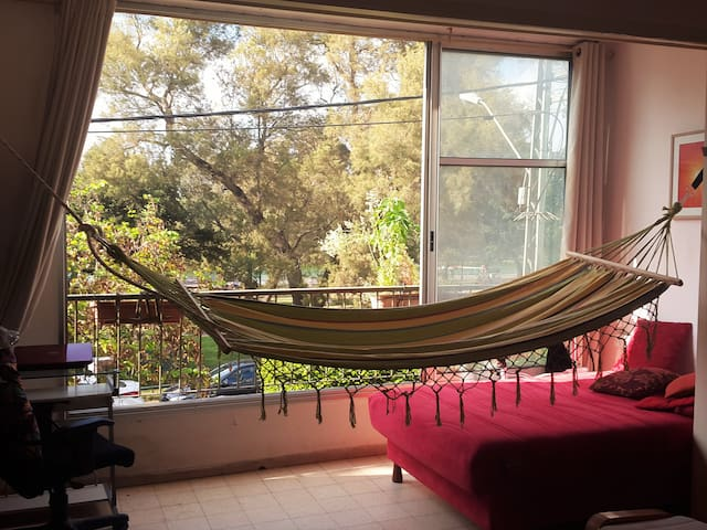 Our hammock with river view