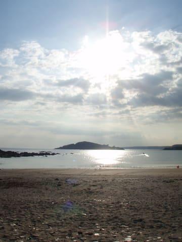 Beach to Burgh Island
