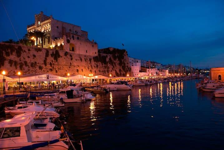 Habitación doble con baño y terraza privado - Ciutadella de Menorca - Apartamento