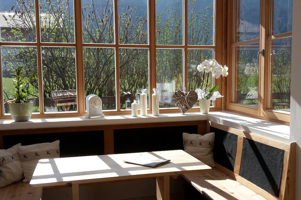 doppelhaush lfte mit eingez unten garten terrasse in bayrischzell bayern deutschland. Black Bedroom Furniture Sets. Home Design Ideas