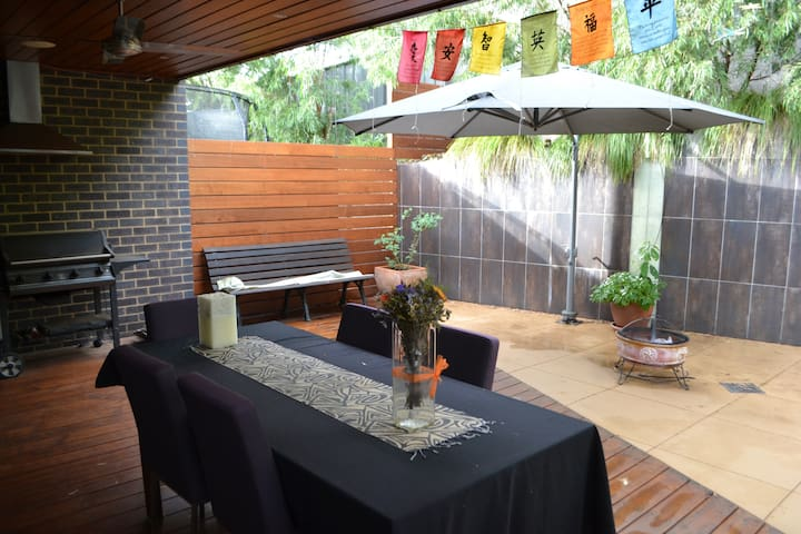 Outdoor cooking/eating area