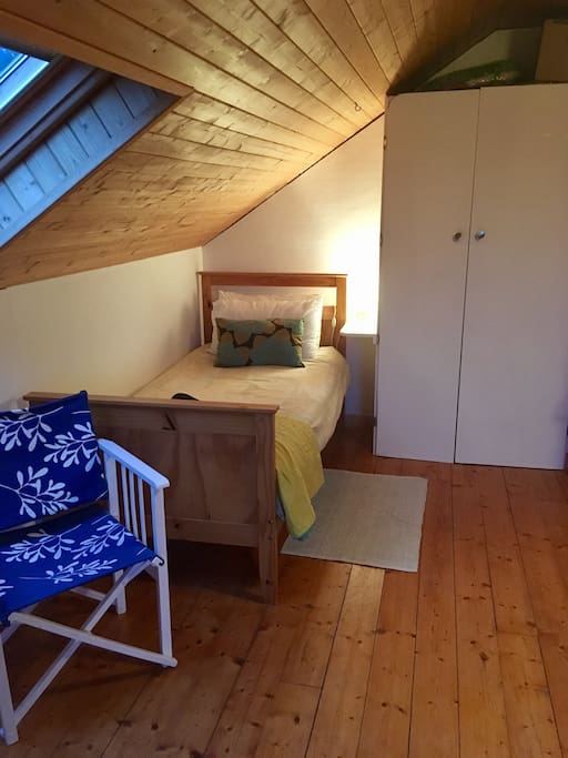Single bed in the double room