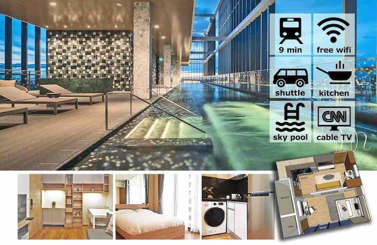 40-Floor Sky Pool Suites @ CBD | 空中泳池41层高CBD公寓