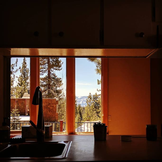 Lake views from the kitchen