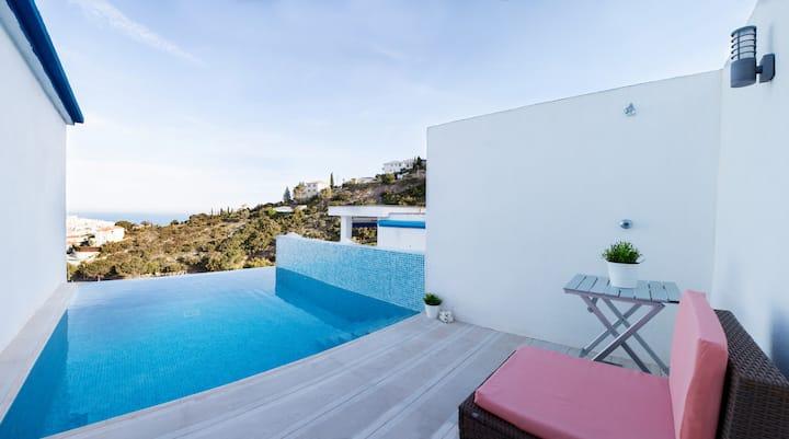 Casa con vistas al mar (Piscina+WIFI+TV Sat.+A/C)