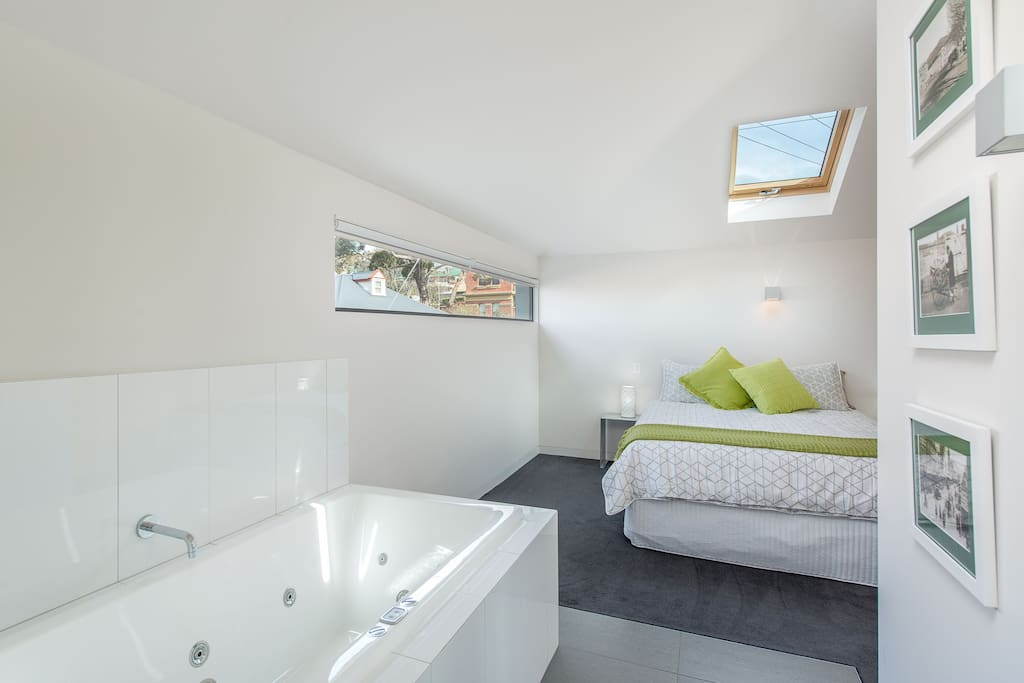 Bedroom One has spa bath, tv with netflix and ensuite bathroom