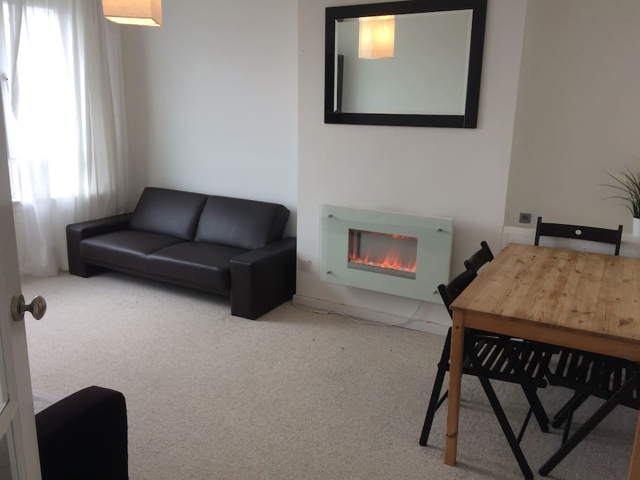 Central heating & a modern electric fireplace