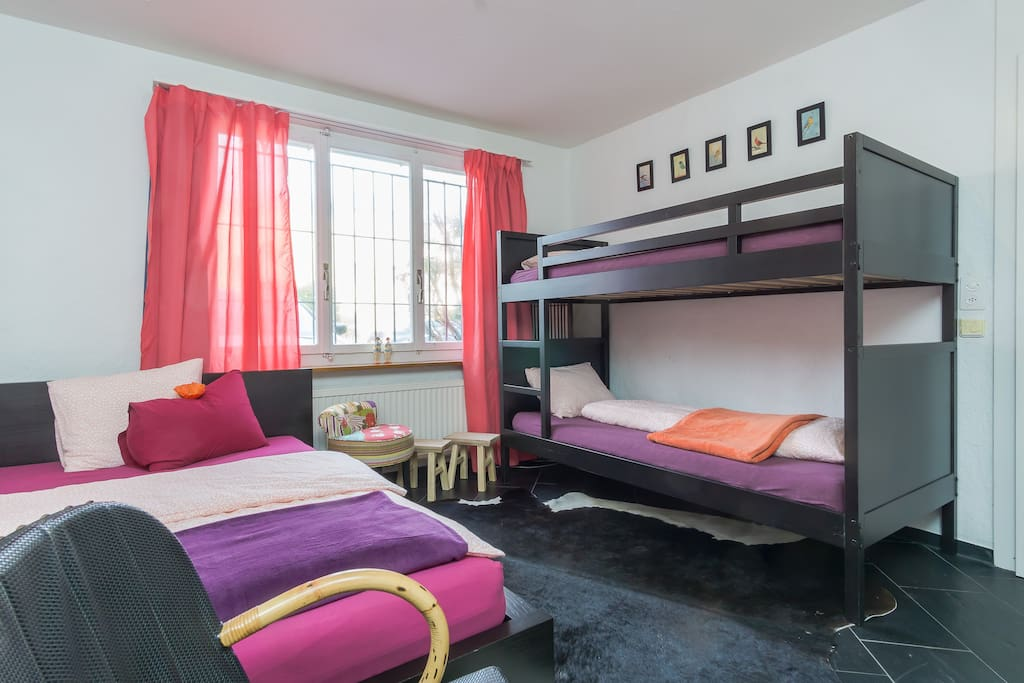 Your room: A double bed and two separate beds... (Space up for 4 guests)