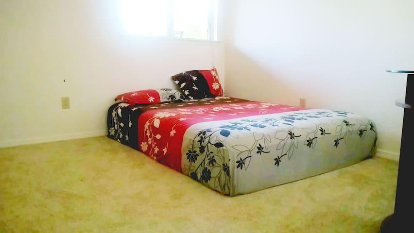 cozy bed + bath + amenities