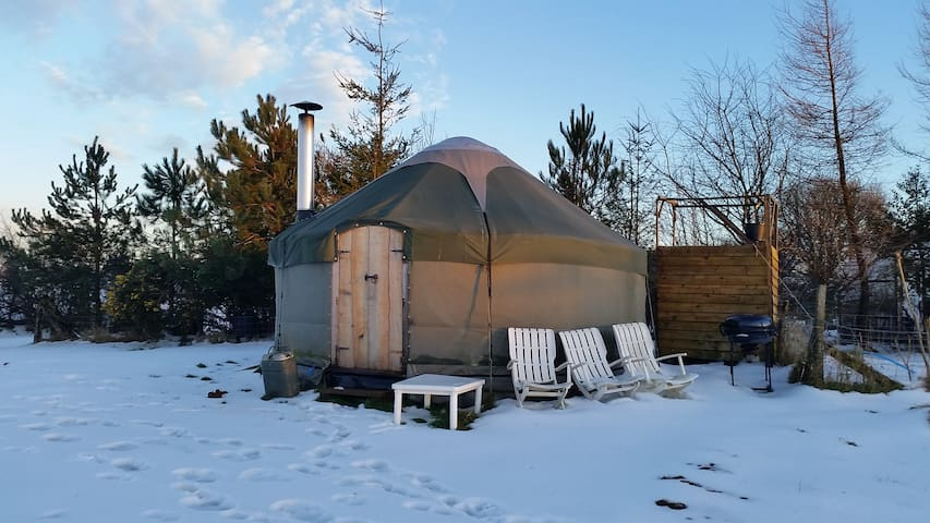 Hilltop Yurt with Stunning Views- Totnes/Dartmouth
