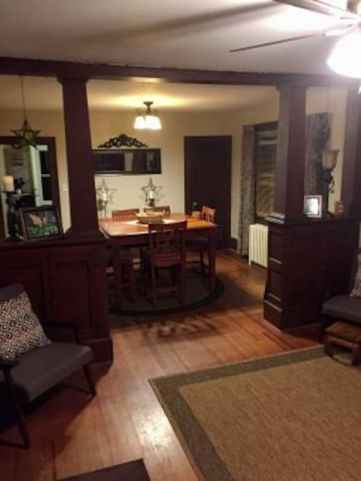 dining room is spacious and has seating for 8
