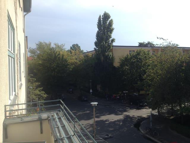 Balcony view onto street