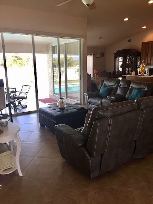Open concept living - open the sliding glass doors and bring the outside in!