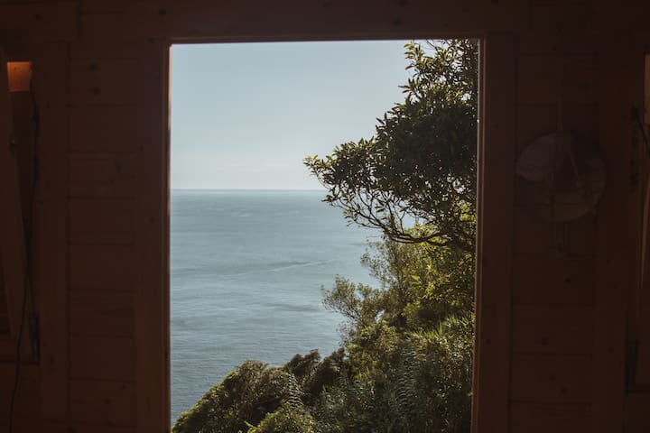 View from the house door
