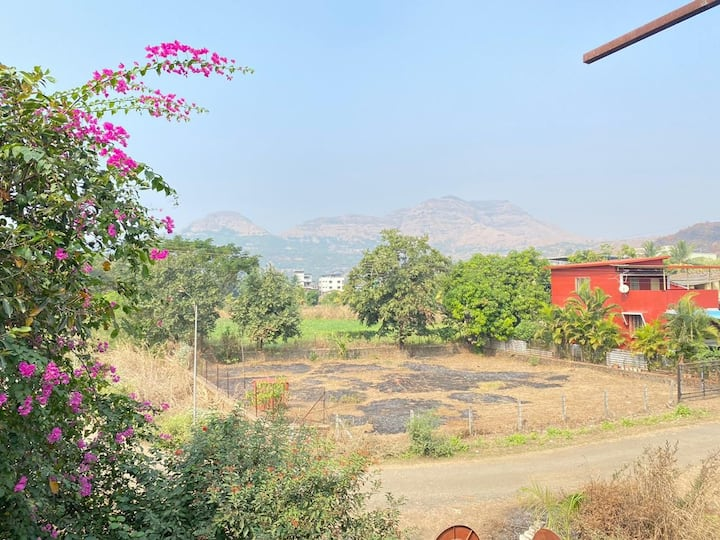Karjat 2bhk villa with private swimming pool  view