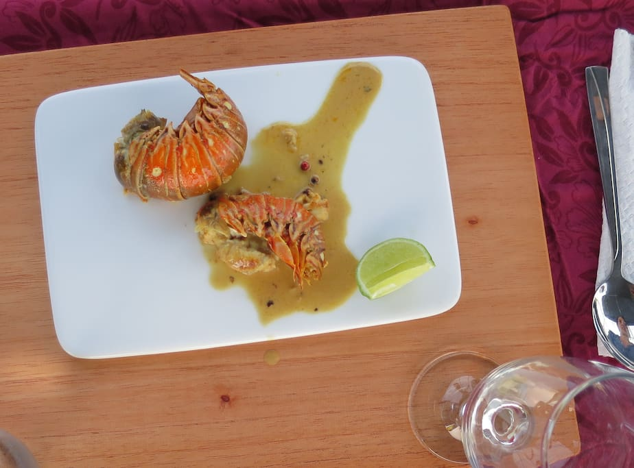 Small Lobster with a Ginger coconut sauce . . .