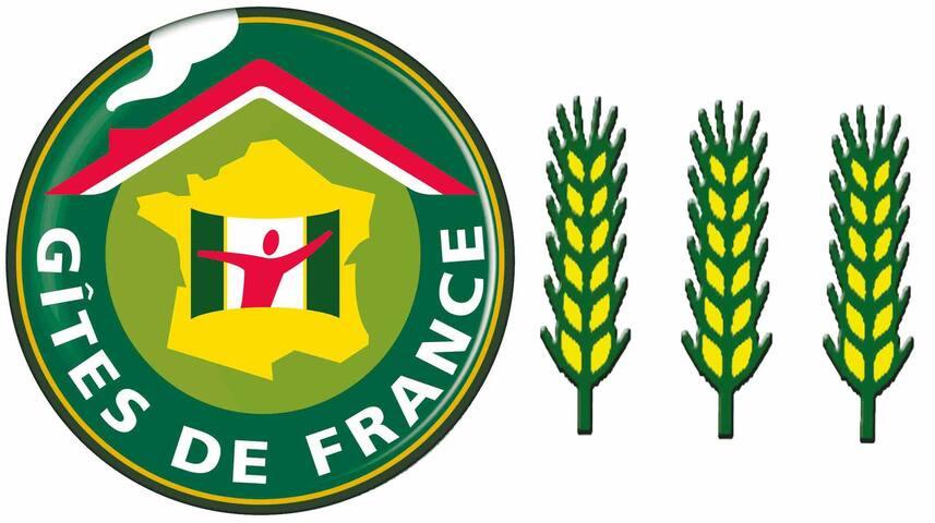 Nous sommes classés 3 épis auprès de gite de France